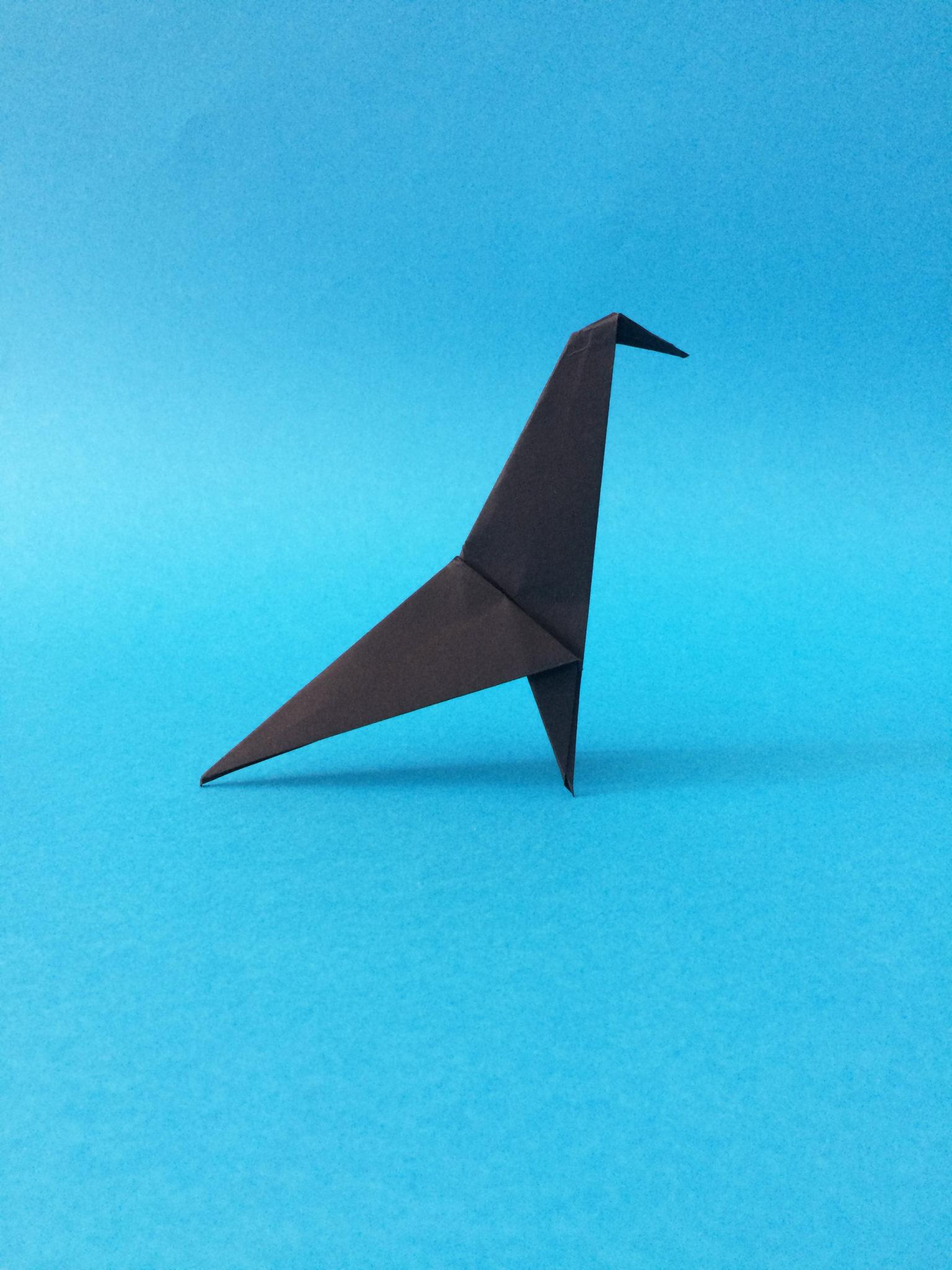 Kaito Coffee Origami Bird White On Rice